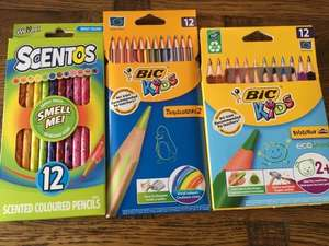 Scentos pencils reduced to 62p bic pencils reduced to 75p instore at Asda Sheffield