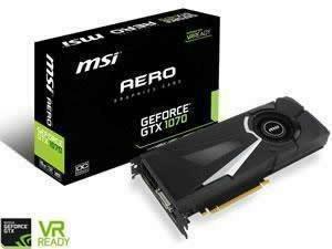 MSI GeForce GTX 1070 AERO OC 8GB GDDR5 Graphics Card - £25 Cashback Until 14/05/17 - £324.98 at Novatech