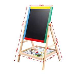 Kids Wooden Drawing Board (Adjustable) Easel Chalk 2in1 £9.99 Delivered @ savechannel / eBay