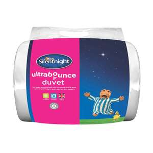 Silentnight Ultrabounce 10.5 Tog Duvets - Single £10 / Double £13.50 / King £16 + £3.50 Del @ BHS