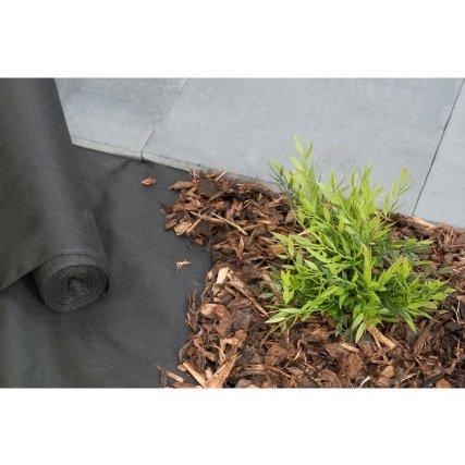 Weed Control Fabric 16m X 1.5m - 52 feet x 4.9 feet £5 B&M
