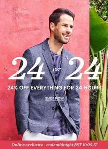 24% off for 24 hours at Burton