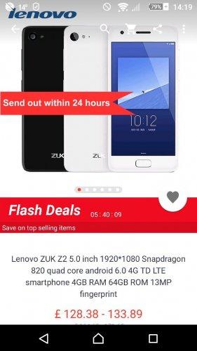 Lenovo ZUK Z2 - £134.80 @ AliExpress