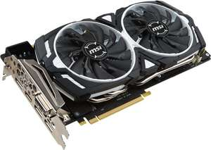 MSI NVIDIA GeForce GTX 1060 6GB ARMOR OC Graphics Card (£13 Cashback) @ Scan ( £208.47 with delivery after cashback)