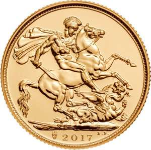 Box of 500 2017 Gold Sovereign Coins £117780.00 @ Bullionbypost