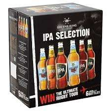Greene King IPA Selection Pack Rugby Special - 6 x 500ml Now £4.75 was £9.99 @ Sainsbury's instore