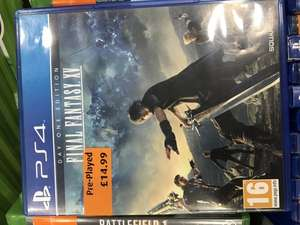 Final Fantasy XV Day One Edition [PS4] £14.99 preowned @ Smyths instore