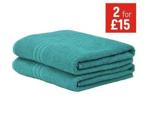 Offer stack - eg £12.99 each or 2 for £15 plus 20% off = 8 bath sheets should be £51.96 now £24 (£3 each) @ Argos