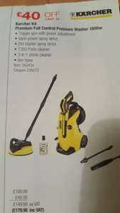 Karcher K4 premium full control pressure washer latest model. Costco. £179.98. 15 May - 4 June