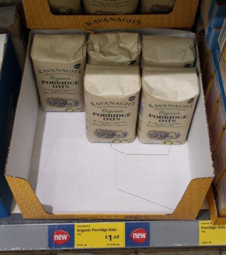 Kavanagh's 1kg Organic Porridge Oats - £1.49 instore @ Aldi