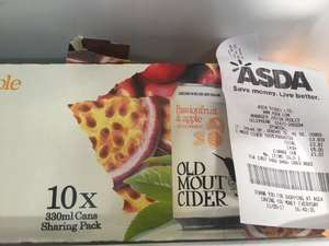 Old Mout Cider 10 x 330ml Passionfruit & Apple @ ASDA Ipswich - £3.93
