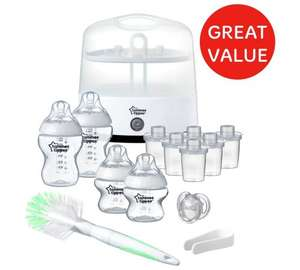 Argos; Tommee Tippee Electric Steam Steriliser Set 555/9185 Half Price £59.99 now £29.99