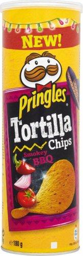 Pringles Tortilla Smokey BBQ / Sour Cream & Onion / Nacho Cheese / Spicy Chilli (160g) was £1.99 now £1.00 @ Ocado