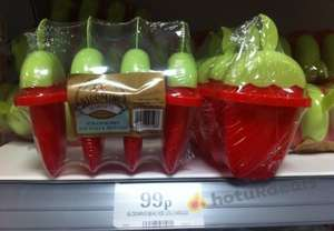 Strawberry Ice Lolly Moulds only 99p at Home Bargains