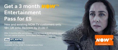 3 months NOW TV Entertainment for £5 via Chromecast