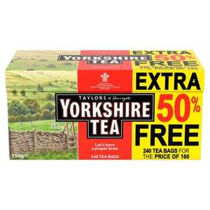 Yorkshire Tea 240 Teabags for price of 160 @ Morrisons £4