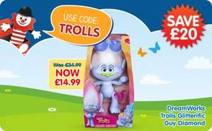 DreamWorks Trolls Glitterific Guy Diamond, The Entertainer, was £34.99, Now £14.99 (using voucher code TROLLS)