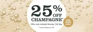 25% off champagne at Majestic.co.uk until Monday