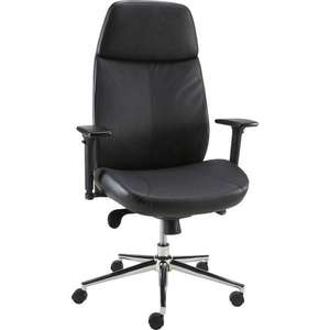 Code Stack  -  Vitali Leather Executive Chair, Black just £44.16 delivered @ Staples