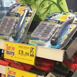 hydro razor and trimmer 9 blades - home bargains - £9.99 instore