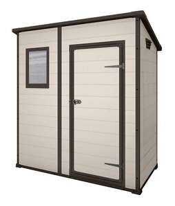 Keter Manor Pent Outdoor Plastic Garden Storage Shed, 6 x 4 feet - Large, Beige - £199.99 @ Amazon