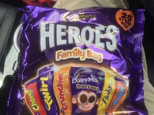 "Cadbury ""Heroes"" treatsize selection pack - 20 pieces for £1 in Morrisons!"