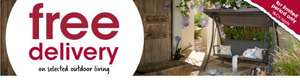 Free delivery on selected garden furniture/Bbq's