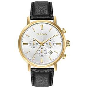 Men's Designer Chronograph Watch Leather Strap - Gold Classic Aerojet 97B155 £54.92 @ Amazon