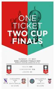 Non-League Finals Day at Wembley – kids just £1.00! (FA Vase Final & FA Trophy Final)