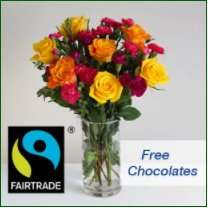 Code stack - chocolate worth £12.97 FREE when you spend £30 on fairtrade flowers @ Arena Flowers