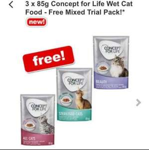 Concept for life 3 x 85g pouches now for free (Minimum order £9) @ Zooplus