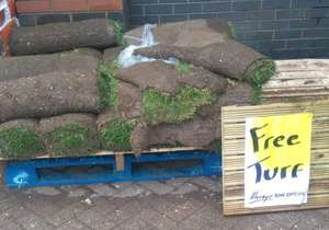 Free turf at Homebase - Wyvern retail park, Derby