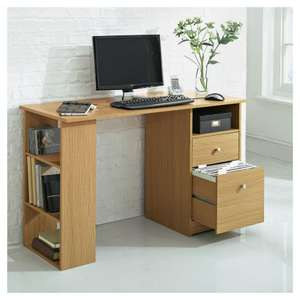 Isaac Desk, Oak Effect £27 + delivery  @ Tesco