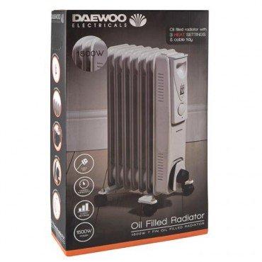 Daewoo 1500w Oil Heater £5 instore @ Poundland
