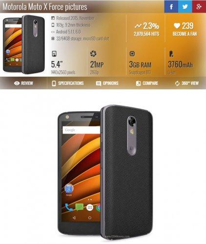 Motorola Moto X Force 32GB at Ebay/eglobal for £175