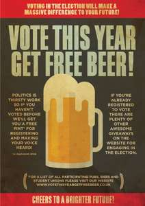 free beer if you register to vote