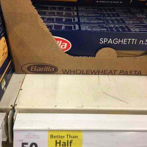 wholewheat barilla spaghetti 75p @ tesco