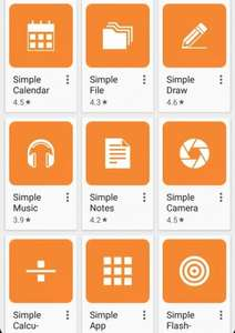Simple Mobile Tools 'apps without annoying ads and unnecessary permissions' @ Google Play Store