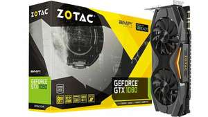 ZOTAC ZT-P10800C-10P GeForce 8GB GDDR5X GTX 1080 AMP! Edition Gaming graphics card £436.81 @ Amazon Germany - Prime exclusive