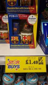 Fc Barcelona Mug & Chocolates £1.50 Home Bargains (Dewsbury, West Yorkshire)