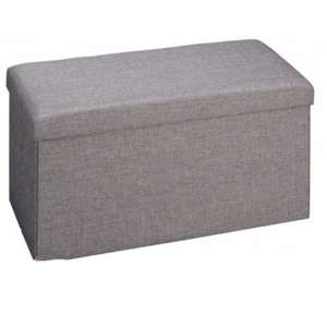 George Home Ottoman in Grey (was £25) Now £15 Free Click & collect or ( Delivered from £2.95 )@ Asda George