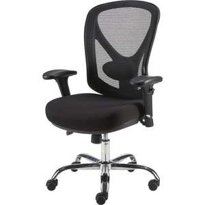 Staples Crusader Mesh Ergonomic Operator Chair, Black, 5yr warranty, free 3 day delivery, £56.96 with code stack @ Staples