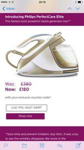 PerfectCare Elite Silence Steam generator iron was £380 now down to £180 with discount code. @ Philips