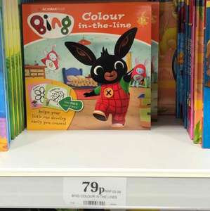bing colouring book 79p @ Home Bargains