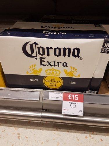 Corona Extra 18 pack at Waitrose for £15