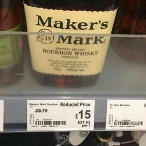 makers mark 70cl £15 Asda