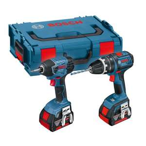Bosch 18v GSB Combi + GDR Impact Driver Twin Pack w/ 2x 4.0ah Batteries, £208 @ Powertoolworld