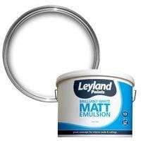 Leyland Magnolia OR White Smooth Matt Emulsion Paint 10L now £10 @ B&Q