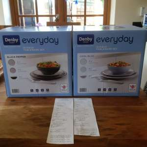 Denby  Everyday 12 piece tableware sets 50% off £42.50 @ Waitrose Lincoln