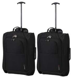 5 Cities The Valencia Collection Hand Luggage, 42 Liters, Plain Black Set of 2 Only £21.29 Was £51.29 + FREE UK delivery  Dispatched from and sold by Luggage Travel Bags UK  - Amazon, Cabin Approved Hand Luggage for Easyjet, Ryanair, BA, Virgin, Flyb